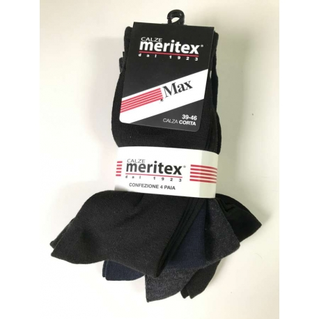 MERITEX CALZA GAMBA CORTA UOMO confezione da 36PZ